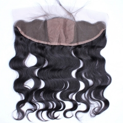 Body Wave Silk Base Closure 13x4 Lace Frontal Closure Natural Color Brazilian Remy Hair Pre Plucked With Baby Hair Free Part