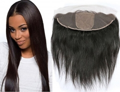 Straight Hair Peruvian Silk Base Frontal Human Hair 13*4 Lace Frontal With Baby Hair No Tangle No Shedding