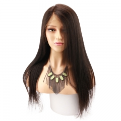 Yaki Straight Full lace Wigs Human Hair With Baby Hair Brazilian Remy Hair Brazilian Yaki Full Lace Wigs Pre Plucked