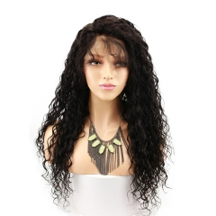 Full Lace Wigs For Black Women Human Hair Wig Water Wave Pre-Plucked Natural Hair Line