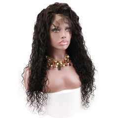 Full Lace Wigs For Black Women 100% Human Hair Wig Water Wave Pre-Plucked Natural Hair Line