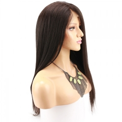 Yaki Straight Full lace Wigs Human Hair With Baby Hair Brazilian Virgin Hair Brazilian Yaki Full Lace Wigs Pre Plucked