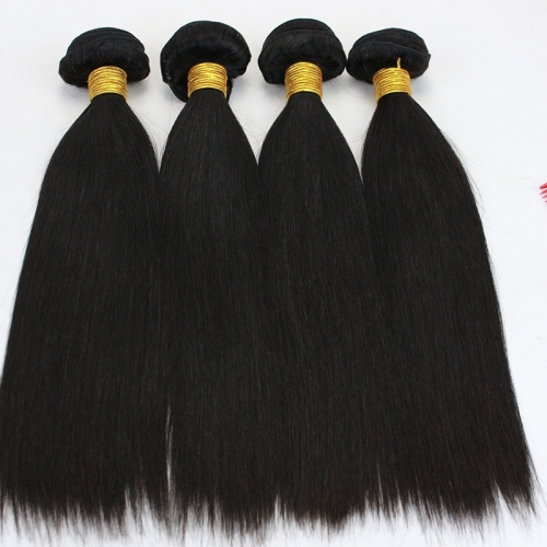 Peruvian Straight Hair Bundles Natural Color Human Hair Extensions Virgin Hair Weave Bundles