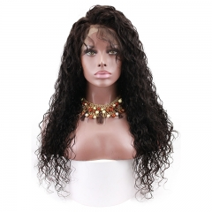 360 Lace Frontal Wigs 100% Human Hair Water Wave Wigs Natural Hair Line Wigs Full Lace Wig