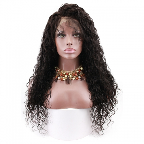 360 Lace Frontal Wigs Human Hair Water Wave Wigs Natural Hair Line Wigs