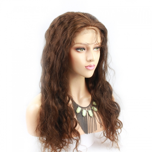 Pre Plucked Full Lace Human Hair Wigs For Women With Baby Hair Brazilian Remy Hair Wigs 250% Body Wave Full Lace Wig Color #4
