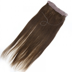 Brazilian Human Hair Flip Hair Extension Color #4 Flip In Hair Extension Virgin Straight Hair