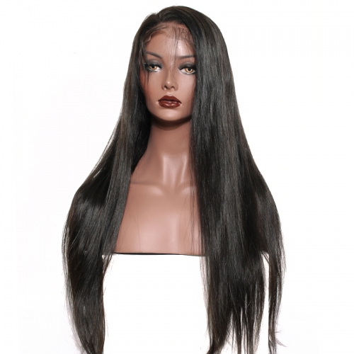 Pre Plucked Full Lace Human Hair Wigs Straight Hair For Women Brazilian Straight Lace Wig With Baby Hair