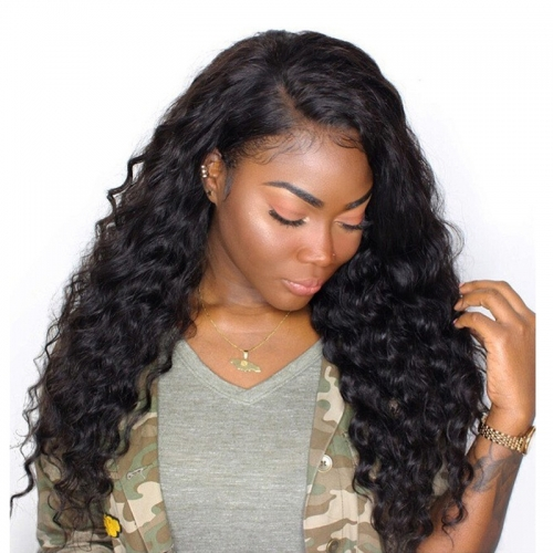 Peruvian Remy Hair 360 Lace Wigs Loose Wave Pre Plucked 180% Density for Black Women Human Hair Wigs Bleached Knots Top Grade Remy Hair On Sale