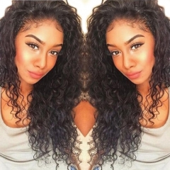 Cheap Human Hair Lace Front Wig Deep Wave Natural Pre-Plucked Hair Wigs 180% Density No Shedding No Tangle