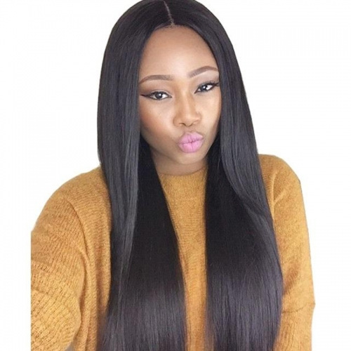 Brazilian Silky Straight Swiss Lace Closure Middle Part Unprocessed Size 2x6 Natural Color Human Hair Closure With Baby Hair