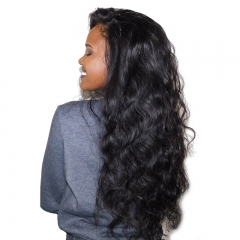 360 Lace Wig Full Lace Body Wave Full Lace Human Hair Wig Bleached Knots 180% Density Natural Hairline Baby Hair Around