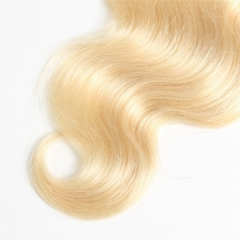 613 Blonde Lace Closure 4x4 Body Wave Brazilian Virgin Remy Human Hair with Baby Hair