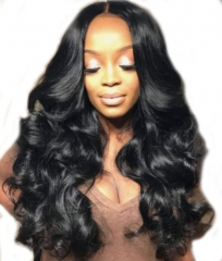 Best Full Lace Wigs 360 Circular Brazilian Body Wave Virgin Hair Wigs 180% Density Natural Hair Line Lace Wig With Baby Hair