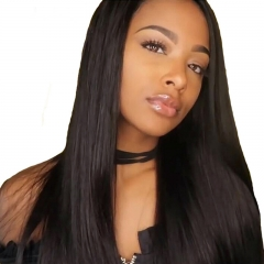 Straight Lace Wig Human Hair 360 Lace Frontal Wigs  Human Hair Natural Hair Line With Baby Hair Around Pre-Plucked
