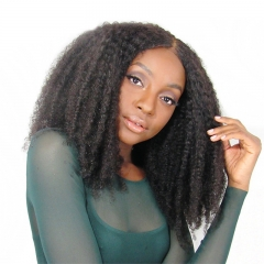 Afro Kinky Curly 360 Lace Wigs Brazilian Unprocessed Hair Human Hair Wigs 200% Density Pre Plucked Hidden Knots