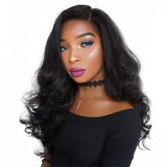 Brazilian 360 Lace Frontal Wig Top Grade Human Hair Natural Color 150% Density Wig Bleached Knots With Natural Baby Hair Around