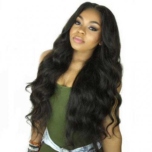 250% Density Wigs Pre-Plucked Brazilian Full Lace Wigs Body Wave Natural Color Unprocessed Human Hair with Baby Hair for Black Women