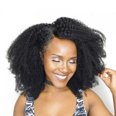 Curly Lace Wig 360 Lace Wigs Brazilian Afro Kinky Curly Human Hair 150% Density Pre Plucked Natural Hair Line