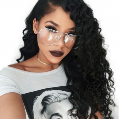 Full Lace Wig Bleached Knots Natural Hair Line With Baby Hair 250% Density Natural Color Deep Wave Brazilian Human Hair On Sale