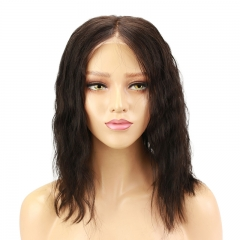 Lace Front Short Bob Pre Plucked Wavy 100% Human Hair Wigs Virgin Human Hair Wig For Women With Natural Baby Hair