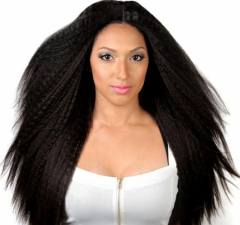 360 Lace Wigs Kinky Straight Brazilian Human Hair 180% Density Human Hair Wig With Baby Hair Around Pre Plucked