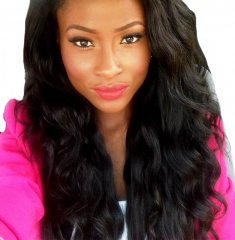 African American Human Hair Wig 180% Desnsity Unprocessed Human Hair Loose Wave Brazilian Hair Lace Wigs With Natural Hairline
