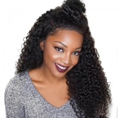 250% Density Pre-Plucked Full Lace Wigs Malaysian Virgin Hair Kinky Curly Lace Front Wigs Natural Hair Line