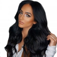 Glueless Lace Front Wigs 250% Density Pre-Plucked Human Hair Wig Glueless With Baby Hair Natural Color Wig For Black Women
