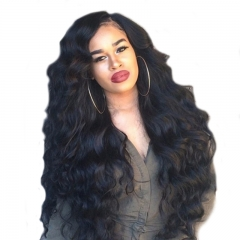 Indian Remy Full Lace Wigs 250% Density Body Wave 100% Human Hair Natual Color Hair Lace Front Wigs With Baby Hair