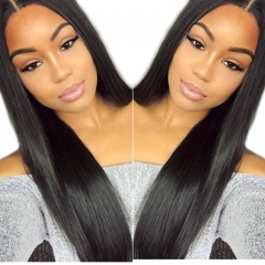 Light Yaki 250% Density Malaysian Virgin Human Hair Lace Front Wig Natural Color Hair Bleached Knots Pre Plucked With Baby Hair