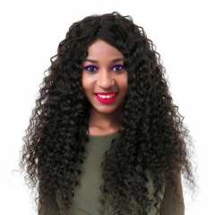 Glueless Full Lace Wigs Youtube Unprocessed Human Hair Deep Wave 150% Density Pre-Plucked Natural Hairline With Baby Hair No Shedding