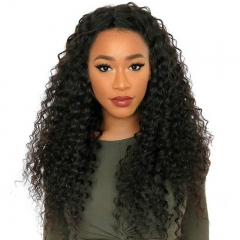 Cheap Remy Hair Full Lace Wigs Bleached Knots Deep Wave Human Hair Natural Color Pre-Plucked No Shedding Natural Hair Line For Black Women