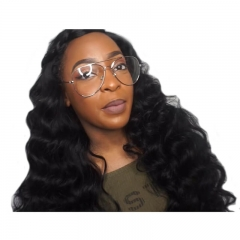 Pre-Plucked Natural Hair Line Loose Wave Full Lace Wigs For Black Women 180% Density Wig With Baby Hair
