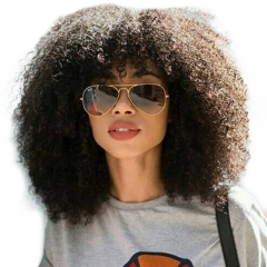 Brazilian Wigs 180% Density Natural Hair Line Afro Kinky Curly Full Lace Wigs Real Human Hair Wigs