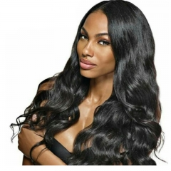 Cambodian Human Hair Body Wave Lace Front Human Hair Wigs with Baby Hair Bleached Knots for Black Women 24 inch
