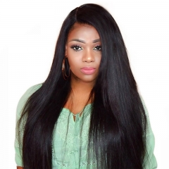 Cheap Remy Hair Full Lace Wigs Top Grade Glueless Wig 150% Density Unprocessed Human Hair Bleached Knots With Baby Hair