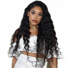 Brazilian Loose Wave Full Lace Ponytail Wigs No Shedding No Tangle 180% Density Wigs That Look Real
