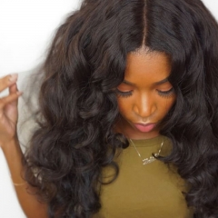 150% Density Wigs Brazilian Wigs Loose Wave Full Lace Ponytail Wigs Pre-Plucked Natural Hair Line