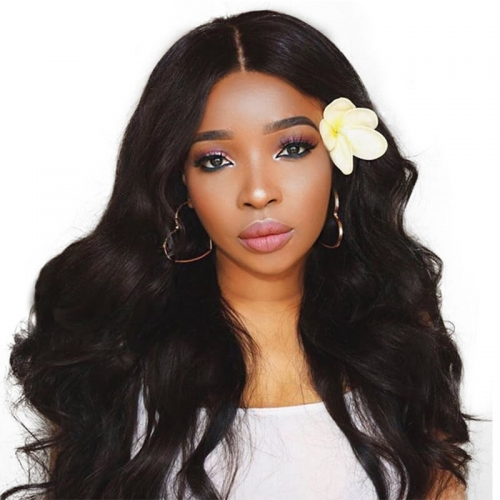 Discount Human Hair Wigs For Black Women Elastic Cap Full Lace Human Hair Wigs Body Wave Pre-Plucked Natural Hair Line