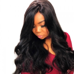 Discount Full Lace Human Hair Wigs With Baby Hair Elastic Cap Body Wave Pre-Plucked Natural Hair Line