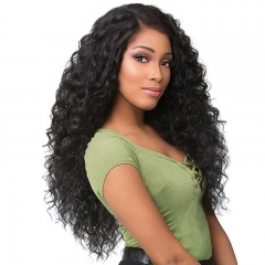 Good Quality Full Lace Wigs Pre-Plucked Natural Hair Line Deep Wave 150% Density Wigs No Shedding