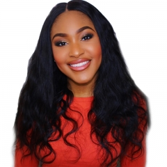 Discount Human Hair Full Lace Wigs Black Women Elastic Cap 100% Human Hair Wig Body Wave Pre-Plucked Natural Hair Line
