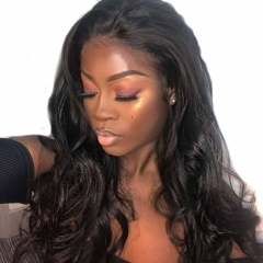 Lace Front Wigs With Bleached Knots Natural Color Body Wave Hair Pre-Plucked Natural Hair Line Lace Wigs