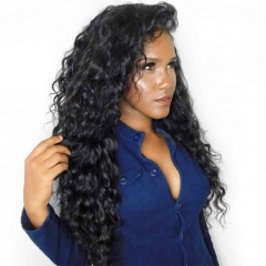 Cheap Hair Wigs Brazilian Loose Wave Full Lace Ponytail Wigs No Shedding No Tangle 150% Density Wigs