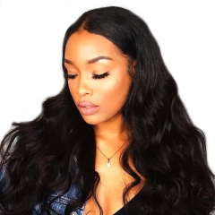 Human Hair Wigs Pre Plucked Natural Hair Line Lace Front Wig Bleached Knots With Baby Hair Natural Color Body Wave Hair