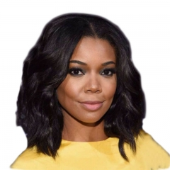 Remy Lace Front Wigs Human Hair 12inch Natural Waev Natural Black Middle Part Bob Human Hair Wig Bleached Knots With Natural Baby Hair Natural Hair L