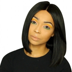 Fashion Girl's Favorite Long And Short 180% Density Human Hair Wigs For Black Women Bleached Knots