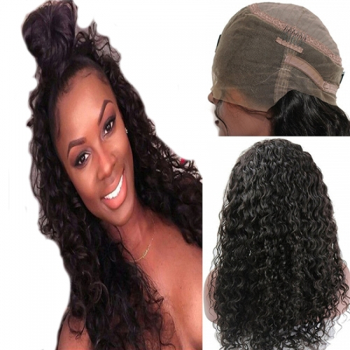 360 Lace Wig Loose Wave Extra High Density Brazilian Remy Human Hair Full Lace Wigs with Baby Hair and Natural Hairline for Black Women Natural