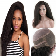 360 Lace Wig 2017 New Style 130% 150% 180% High Density 10A Brazilian Human Hair Wigs Kinky Straight Free Part Wig with Baby Hair for Women